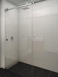sliver frameless sliding shower door system
