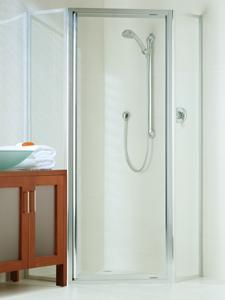 Dimension 45 degree opening framed shower screen