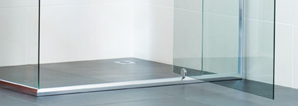 semi-frameless shower enclosure pivot door