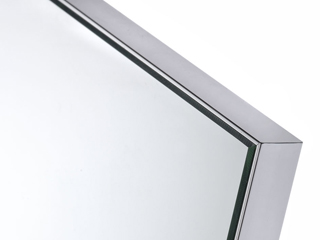 aluminium mirror frame close up image