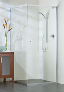 semiframeless shower door