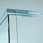 shower screen door detail for semi-frameless enclosure