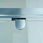 pivot patch detail of semi-frameless shower