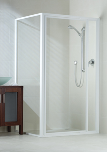 Phoenix fully framed shower screen white
