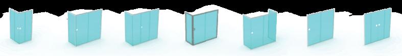 semi-frameless sliding shower screen configurations