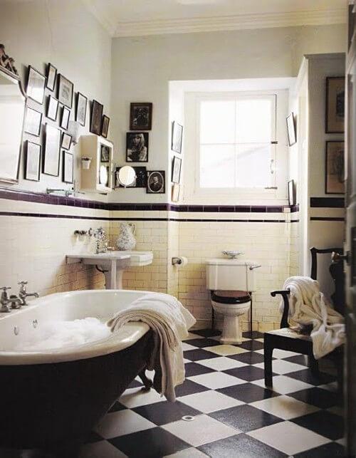 Black and white bathroom design inspiration