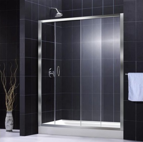 How to master the black bathroom trend pivotech for In wall sliding door