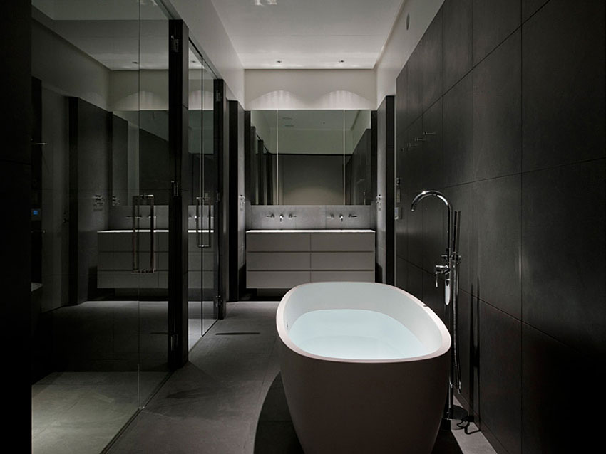 How to master the black bathroom trend Pivotech Classy Black Bathroom