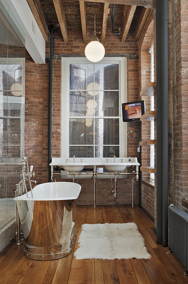 Exposed Brick Wall Design Ideas : The industrial bathroom pivotech