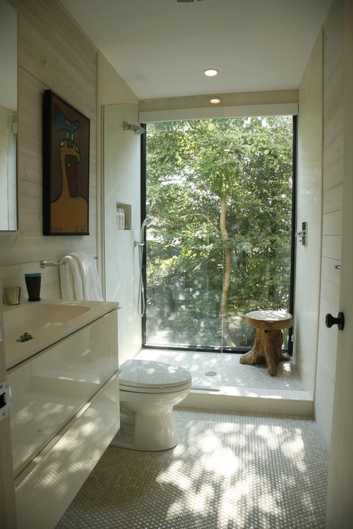 Make your bathroom bigger on the inside pivotech Bathroom designs with window in shower