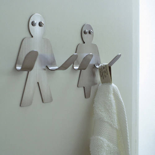 Man and woman towel hook for bathroom