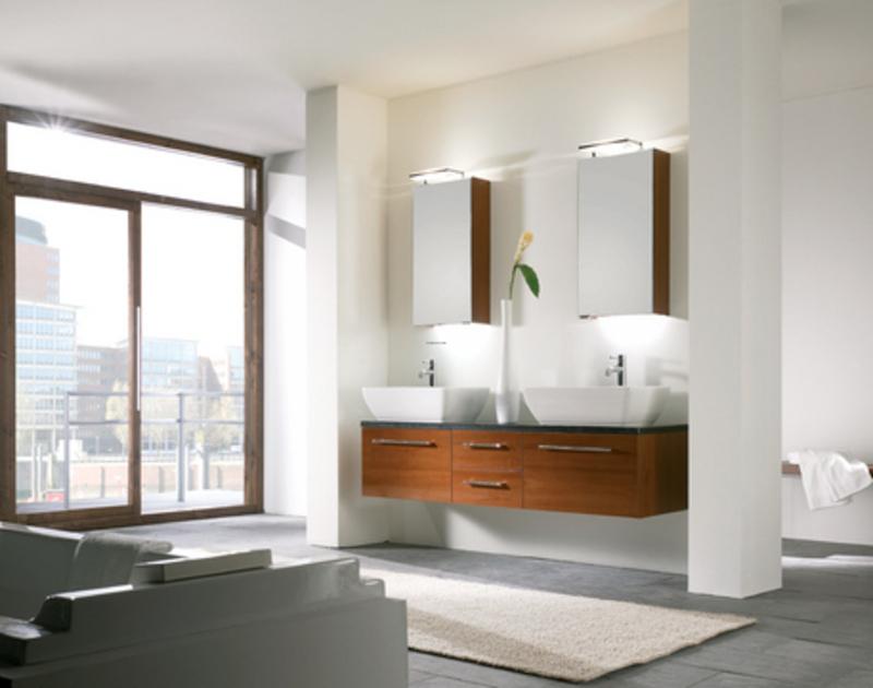 double vanity modern bathroom design idea