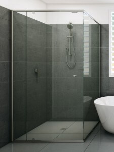 semi frameless shower screen Evolution