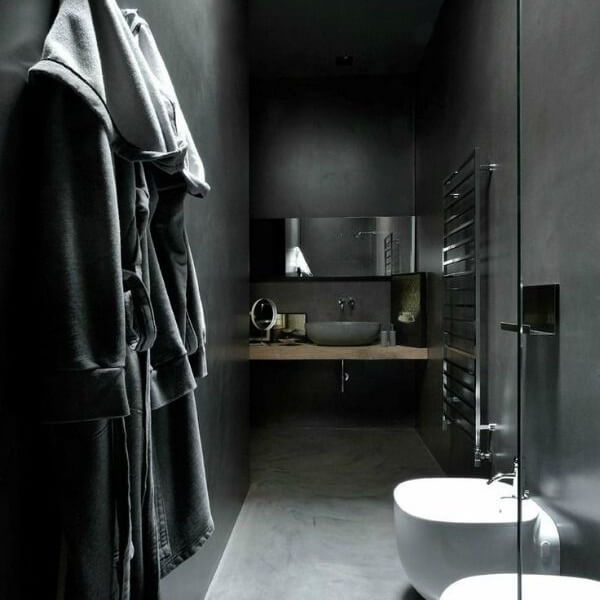 Mastering the black bathroom trend part two Pivotech Impressive Black Bathroom