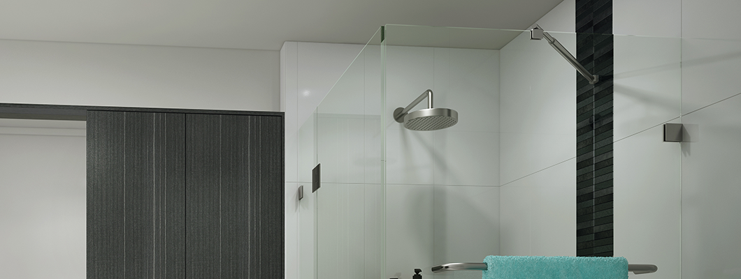 frameless shower screens with glass hardware
