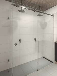 Manhattan frameless sliding shower screens