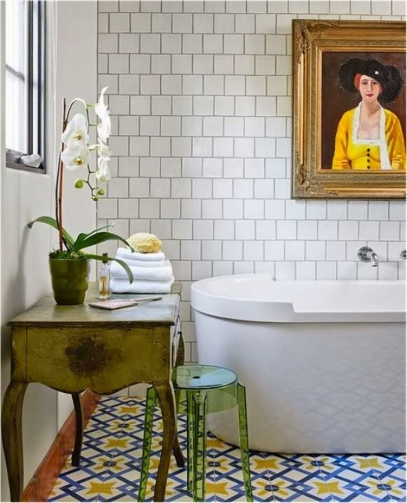 Modern Bohemian In The Bathroom