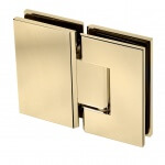 gold glass to glass frameless glass hardware finish