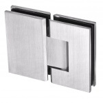 frameless glass hardware finish satin chrome glass to glass