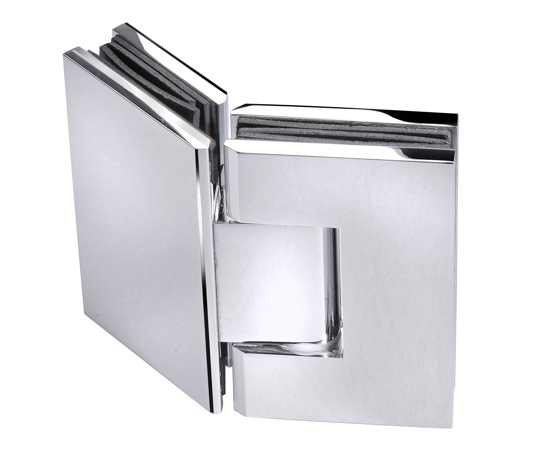 frameless glass hardware chrome hinge