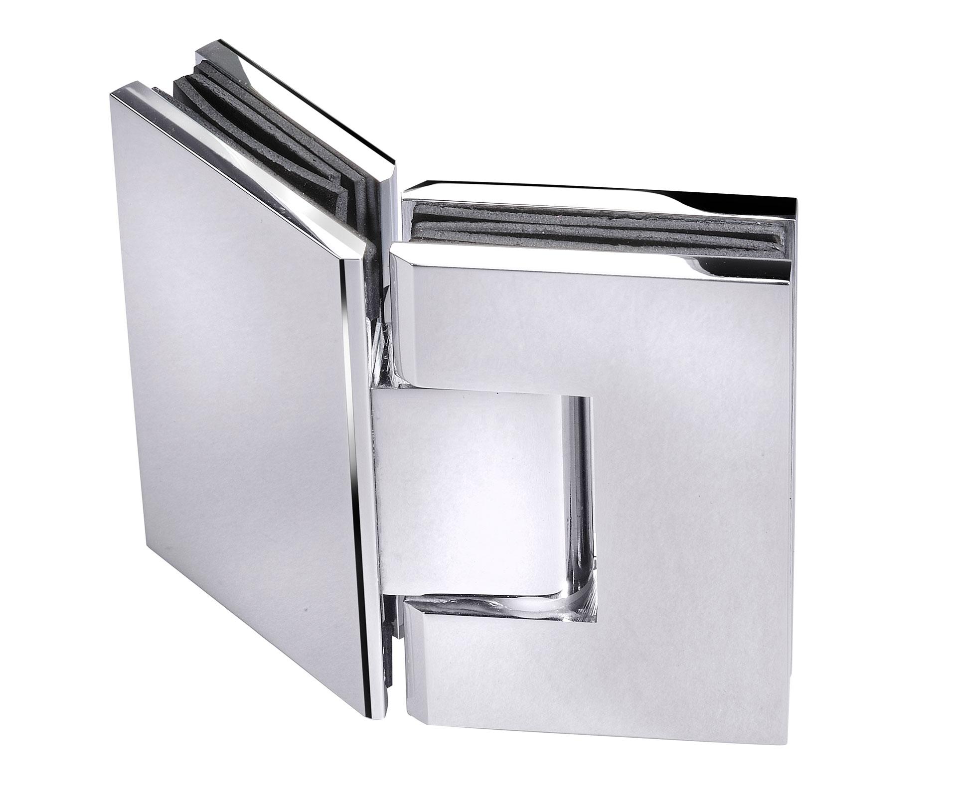 frameless glass hardware chrome hinge