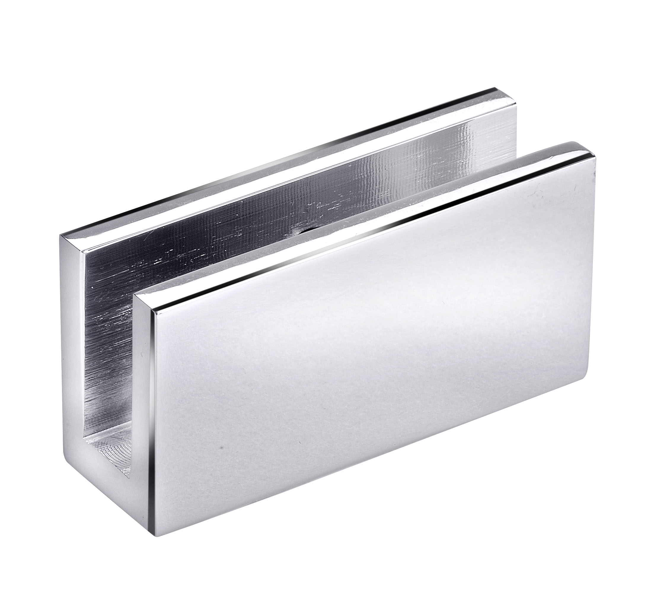frameless glass hardware bracket chrome