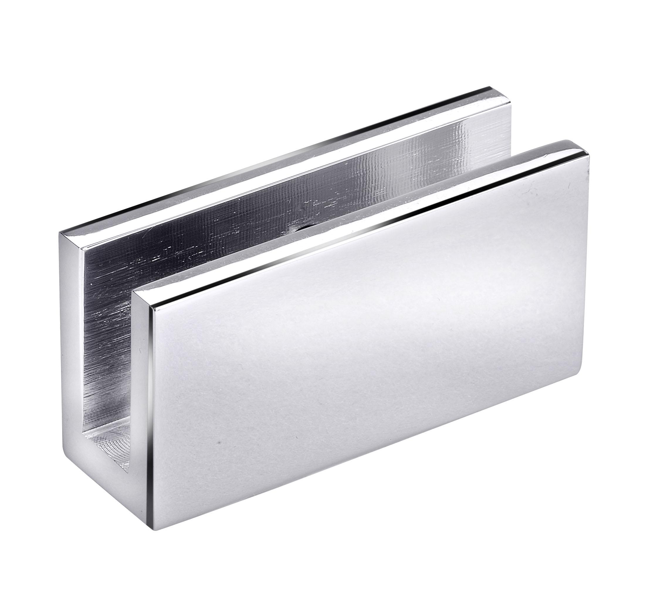 frameless glass hardware bracket chrome
