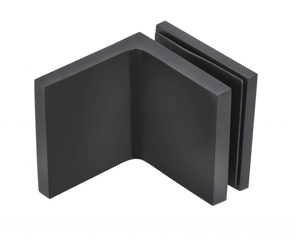 frameless shower bracket matt black finish