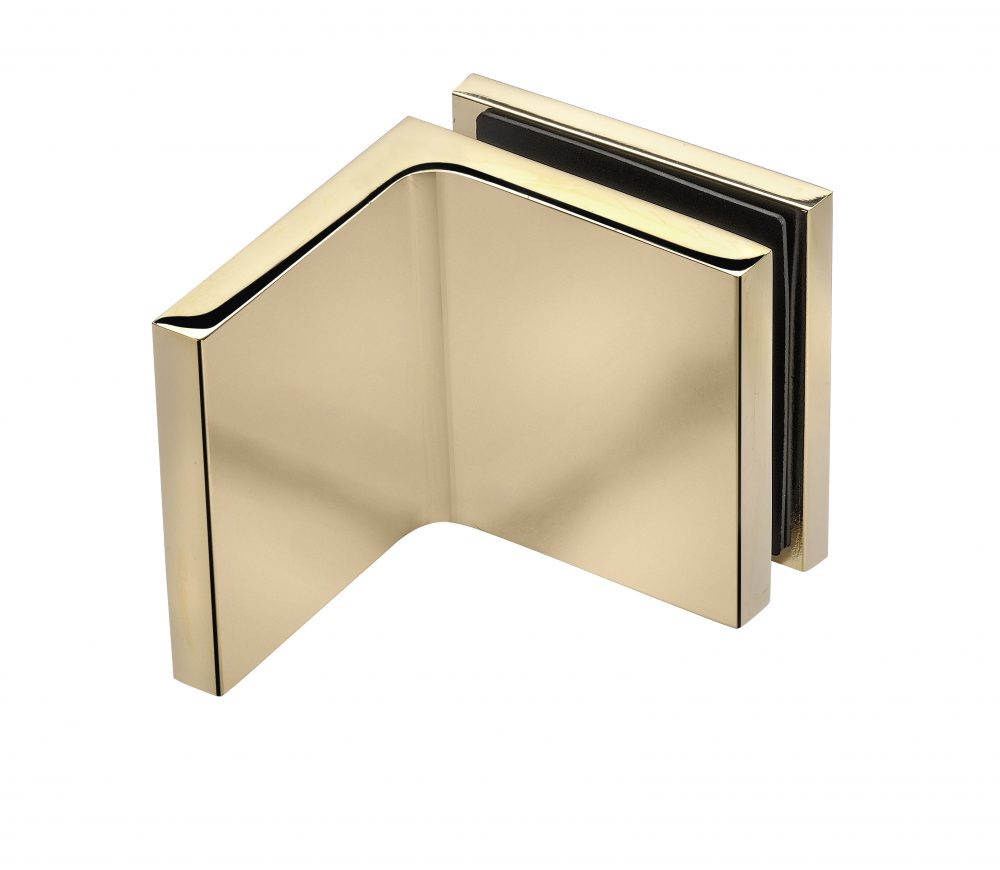 gold bracket frameless shower hardware