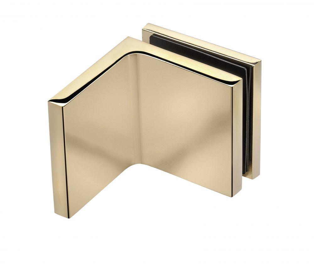 gold bracket frameless shower hardware