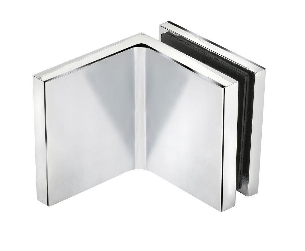 satin chrome finish frameless glass hardware