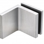 frameless glass hardware finish satin chrome bracket