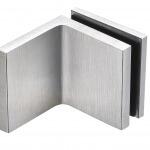 frameless glass hardware finish satin chrome bracket