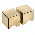 frameless glass hardware finish gold finger pull