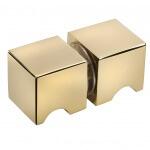 frameless glass hardware finish gold finger pull