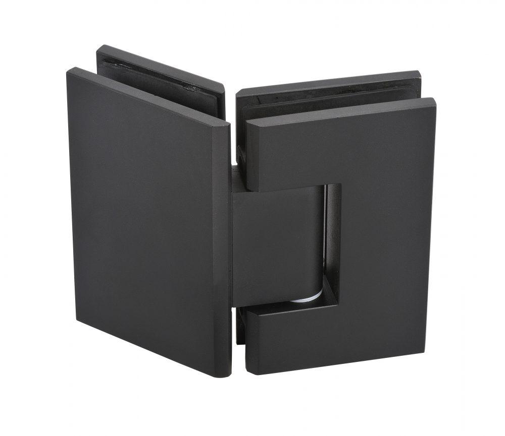 frameless glass hardware hinge matte black