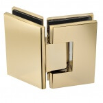 135 frameless glass hardware finish gold hinge
