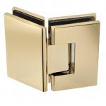 135 frameless glass hardware finish gold hinge