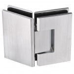 180 hinge frameless glass hardware finish satin chrome