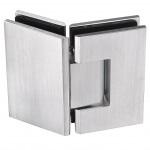 180 hinge frameless glass hardware finish satin chrome