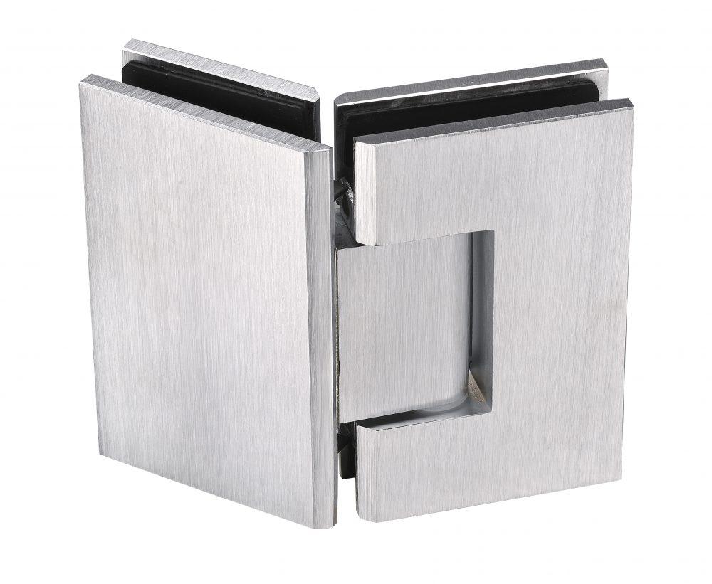 satin chrome frameless glass hardware hinge