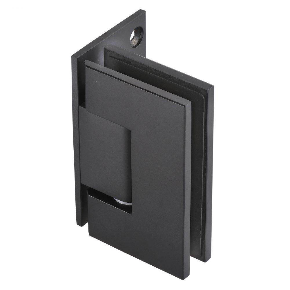 matt black hinge frameless glass hardware