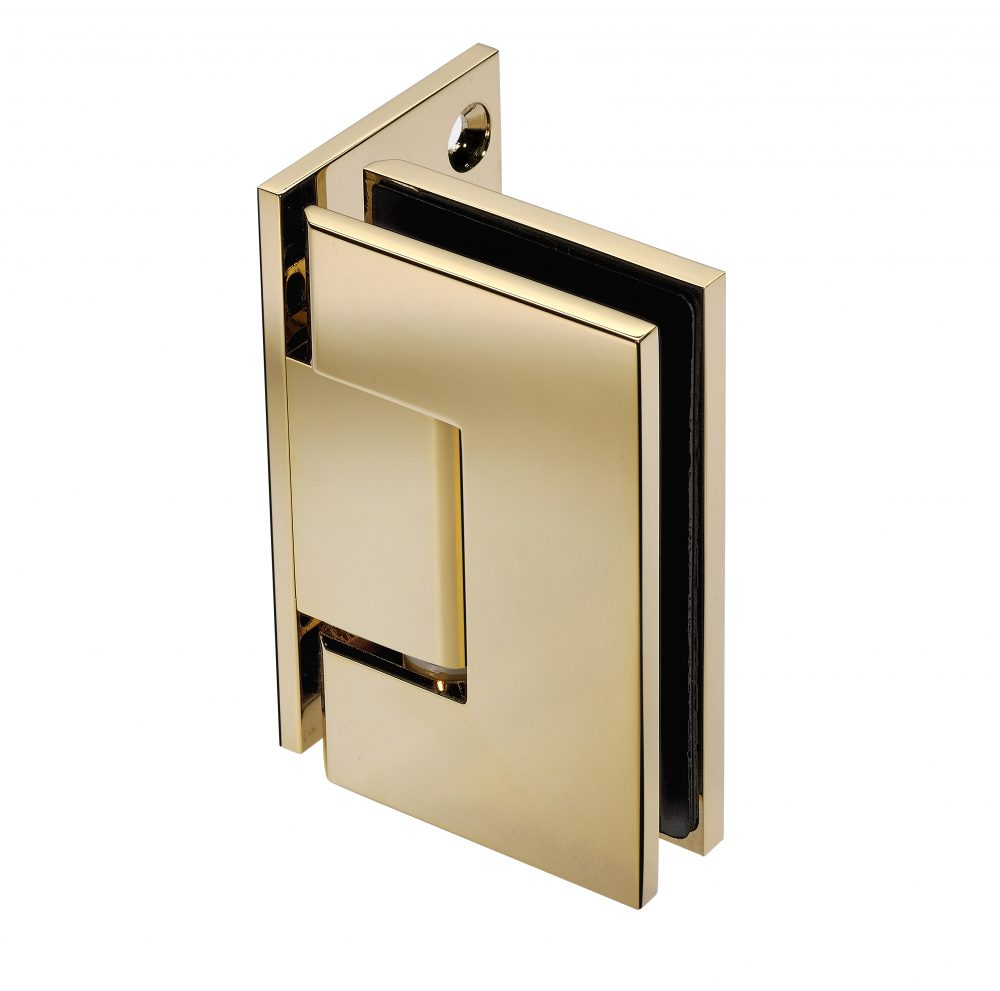 gold finish frameless shower hardware