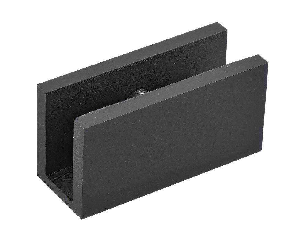 matt black finish for frameless glass hardware