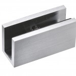 frameless glass hardware finish satin chrome