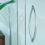 semi frameless shower screen and handle