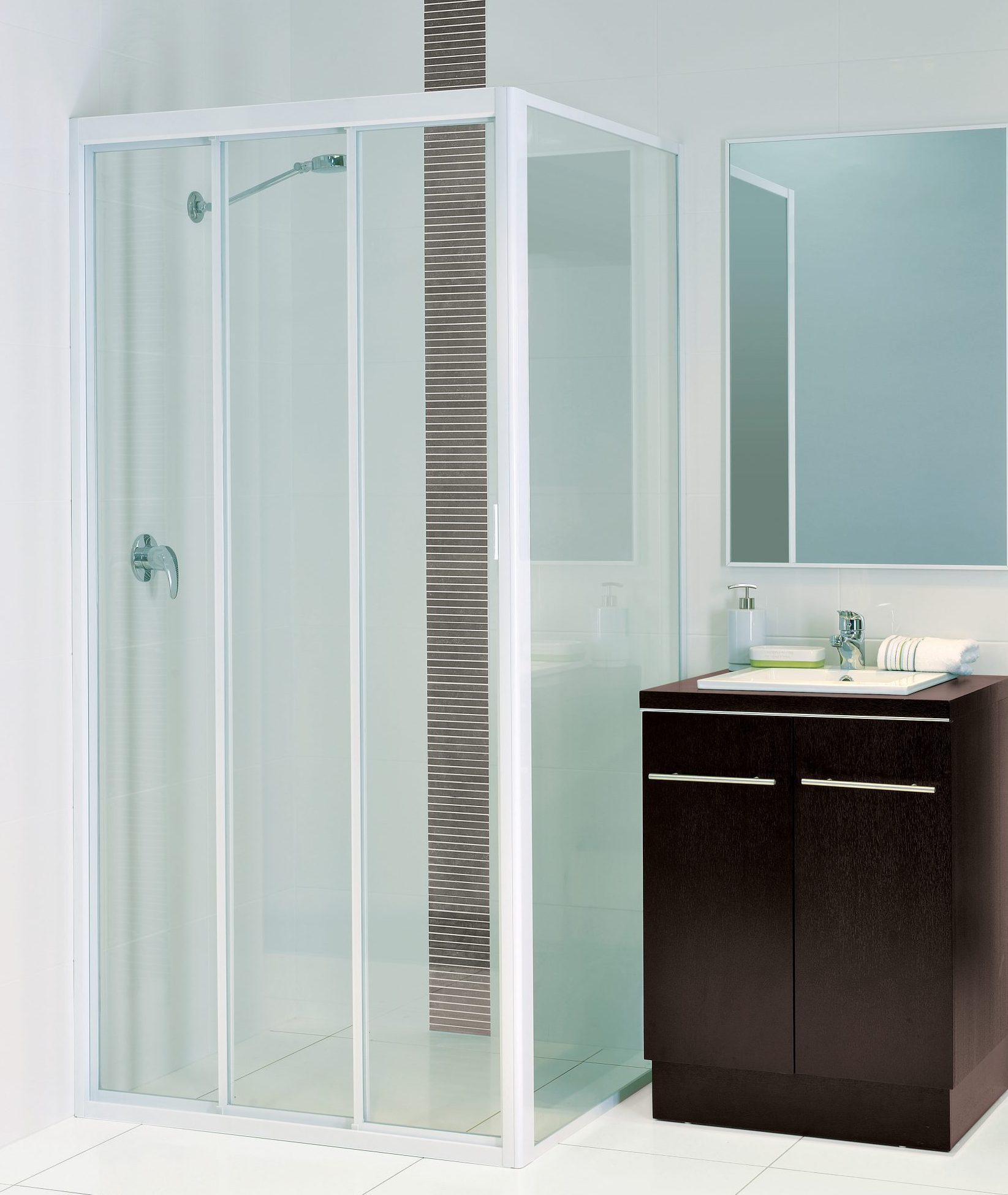 Sliding shower screen - 3 Door Slider Three Door Sliding Shower Screen