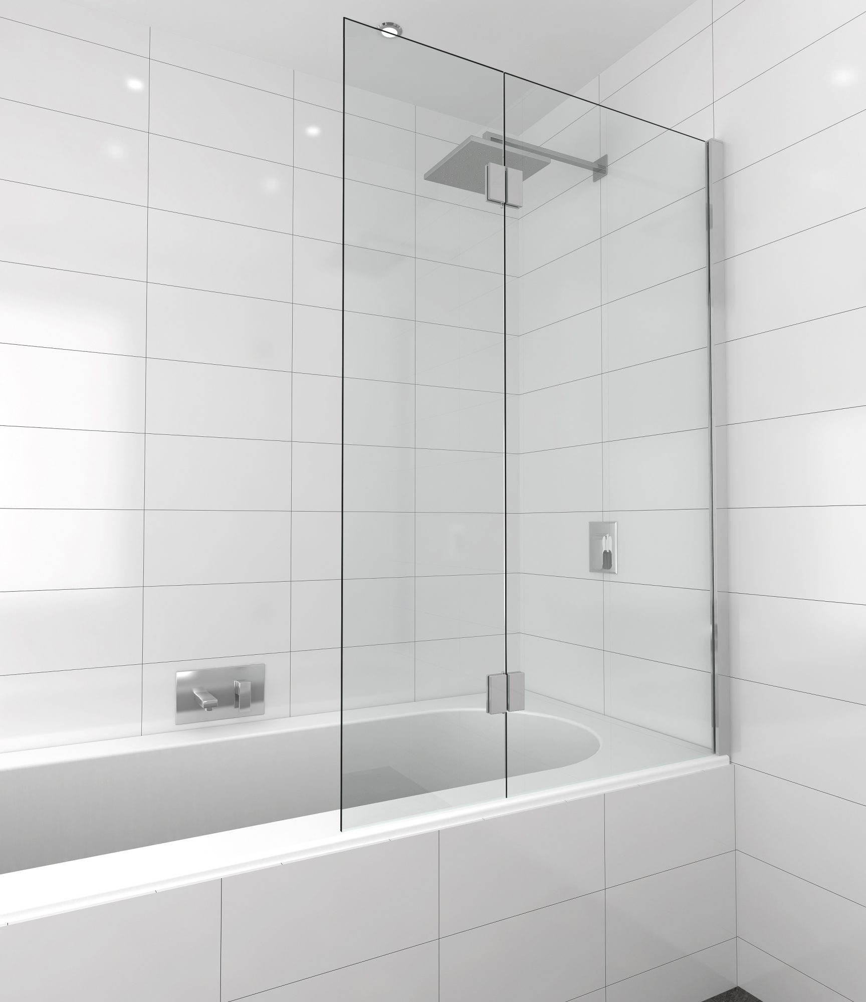 Shower Screen Over Bath bath panels - pivotech