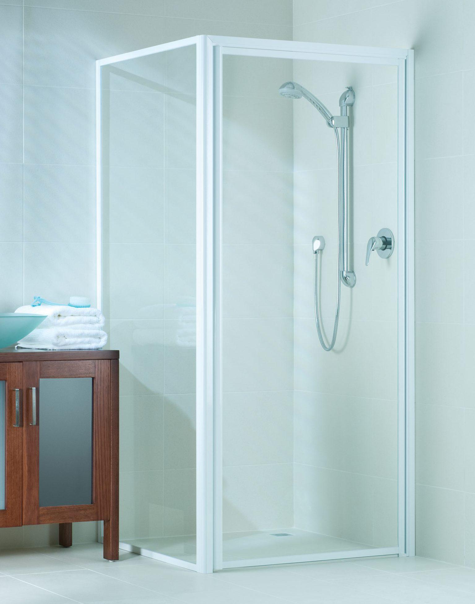 sill-less shower door