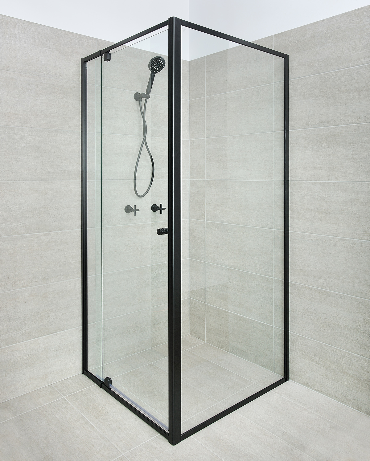 black finish Optima shower door